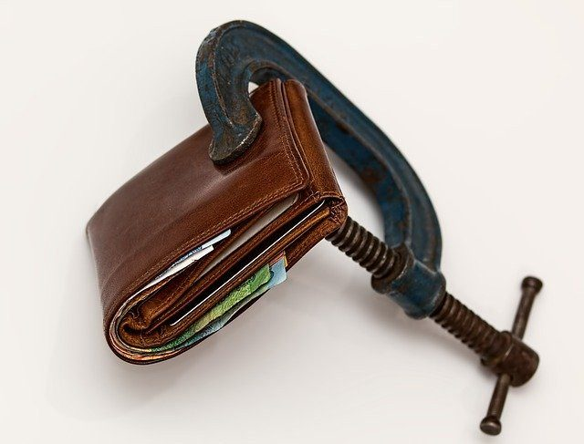 Wallet in a clamp