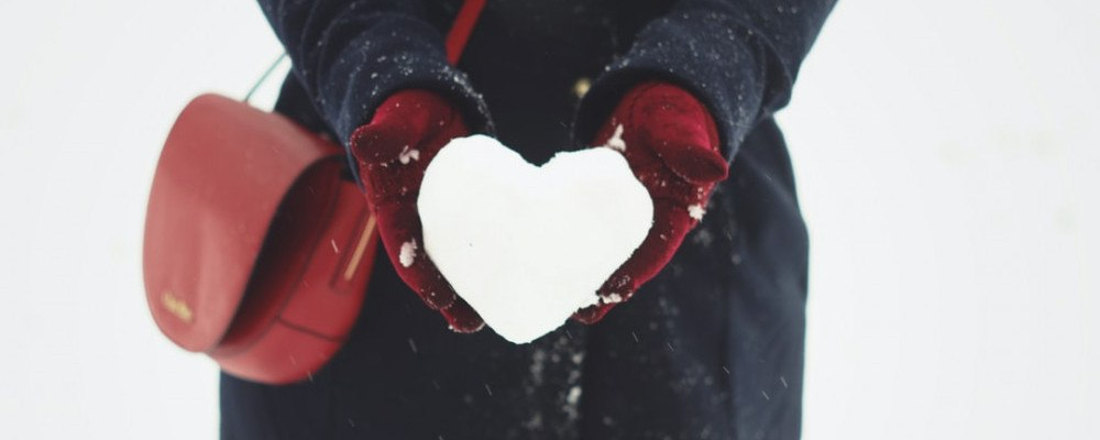 Snowball in shape of a heart